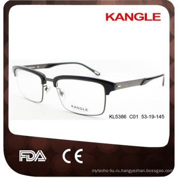 2017 мужчин мода дизайнер ацетат и металл оптические очки & оправы комбинированные очки