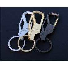 Chaîne de porte-clés de porte-clés en métal de logo d'OEM pour le cadeau d'affaires