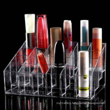 Trapezoid Clear Makeup Display, Acrylic Lipstick Stand Case
