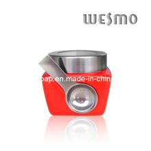 Contenedor de almacenamiento de cerámica con cuchara (WKC0333G-S)