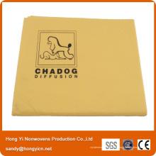 Bonne serviette de séchage d'animal familier de tissu non-tissé viscose de vente, serviette de séchage d'animal familier multifonctionnel