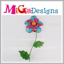 Decoración de la pared de los artes del metal de la nueva flor popular de la llegada