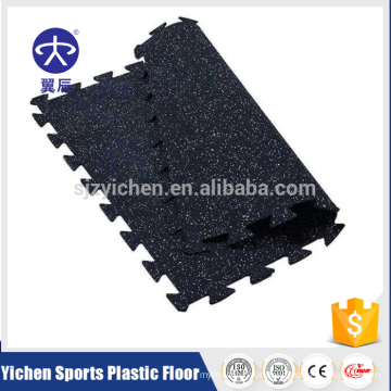 Interlocking EPDM rubber mat for fitness center