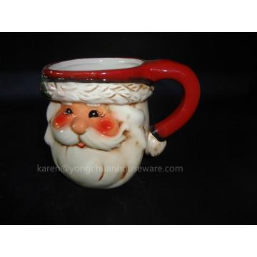 Hand-Painted Christmas Cookie Jar (YC1510)