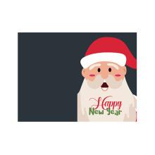 Cartão de Natal personalizado Santa feliz Natal feliz ano novo