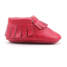 Leder Mokassins Soft Red Baby Schuhe