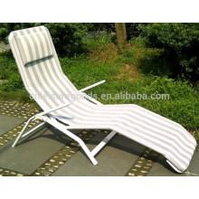 Outdoor Modern Metal Folding Beach Sun Bed