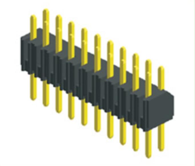 Anche-DIP 2 mm 10 VIE 1 RIGA Dritto Attraverso Foro PCB Maschio intestazione pin