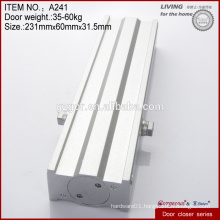Multi-function square zinc alloy hidden door closers hardware