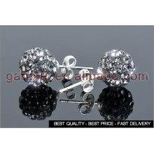 shamballa beads stud earring