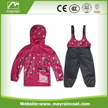Imperméable à l'eau Kids Raincoat Kidswear Ski PU Rainsuit