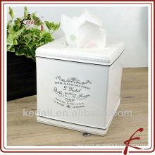 China Fábrica de Navidad porcelana de porcelana de la servilleta titular de la caja de tejido