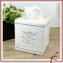 China Factory Christmas Ceramic Porcelain Napkin holder Tissue Box