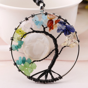 Latest Design tree of Life with Moon Necklace Pendant