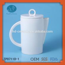 Umweltfreundlicher keramischer Teekannelieferant, Hotelnutzung Teekanne, weiße keramische Teekanne personifiziert