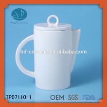 Fornecedor de pote cerâmico do potenciômetro do chá cerâmico, potenciômetro do chá do uso do hotel, bule cerâmico branco personalizado