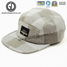 New Fashion Style Checked Khaki Design Snapback Hat / Camper Cap