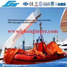 1t@3m CCS Mini Hydraulic Yacht Provision Crane
