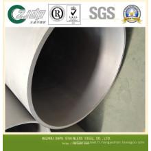 Tuyau soudé en acier inoxydable de grand diamètre (304, 316)