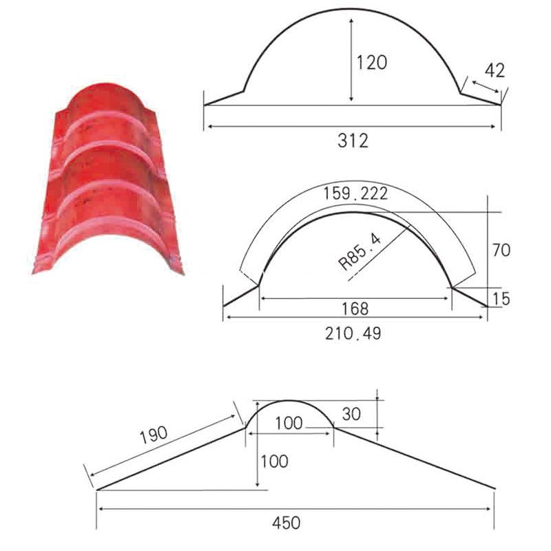 ridge cap roll forming machine 4