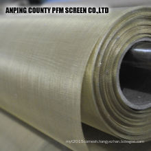 Polyester yarns with copper wire netting