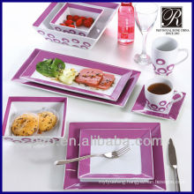 color glazed ceramic dinner set manufacturer