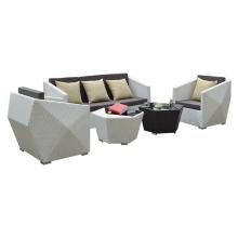 Leisure outdoor rattan furniture wicker woven garden sofa set