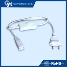 Fios de conector eletrônico de 2 pinos para iluminação de tubo de LED