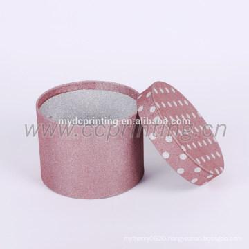 round pink paper tea box glitter cardboard tube box