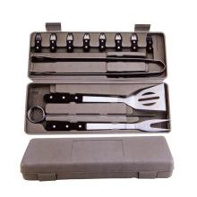 15 piezas de herramientas de barbacoa con estuche de plástico