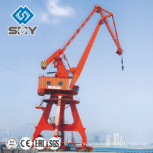 Harbor Pedestal Telescopic Boom Crane Rotating 360 Degree