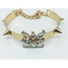 Смола камень золото обшивки Браслет (XBL13557)