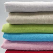 100% Baumwolle Ramie Look Stoff für Kleidungsstück