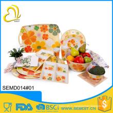 Meilleure vente produits automne conception mélamine lumineux couleur vaisselle