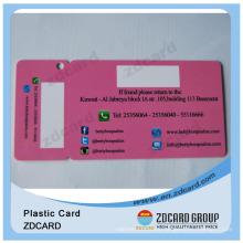 Plastic Diecut Tag Card