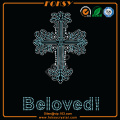 Cross Beloved rhinestone iron en apliques