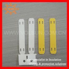 Tag plástico do laço de cabo do Polyolefin livre do halogênio