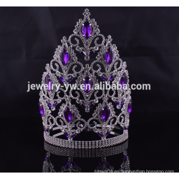 Accesorios de pelo venta al por mayor china big rhinestone pageant crowns
