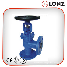 Válvula de globo de ángulo DIN Pn40 de alta presión