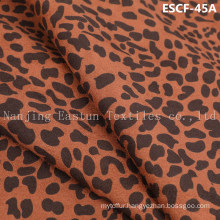 Print and Golden-Plating  Suede Fabric Escf-45A