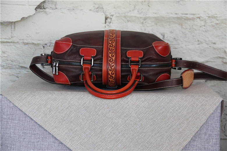 handmade leather doffle bag