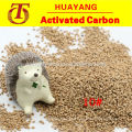 Abrasive walnut shell for skimmed and wastewater treatment