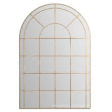 Ventas calientes de metal forjado a mano acabado en un antiguo espejo de pared de marco de oro
