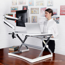 Höhenverstellbarer Monitorständer Büro Schreibtisch mit Tastaturfach