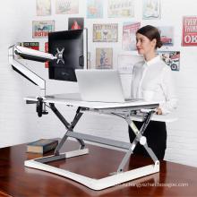 Регулируемый по высоте мониторный стойка для офиса с клавиатурой
