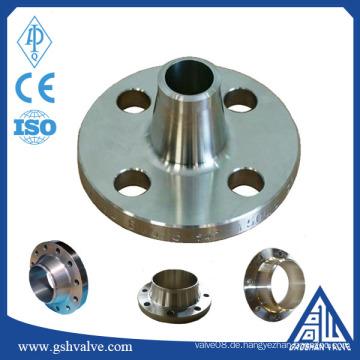 ANSI B16.5 Stahlrohre Reihenflansch für industrielle Gasrohrverschraubung