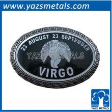 personnaliser les boucles de ceinture de constellations, custom astrology signer virgo fermoir de ceinture