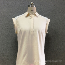 Женская льняная кружевная рубашка с короткими рукавами