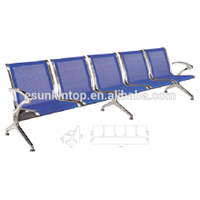 PU airport chair with three seat, Aluminum armrest and legs, Pu leather seater design (KS5A-5)