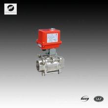 D65 2,5 pouces robinet à tournant sphérique en acier inoxydable avec actionneur électrique 220V / 50HZ pour le traitement de l'eau